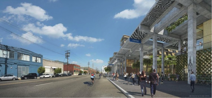 View from the street. Image Courtesy of Los Angeles Department of City Planning