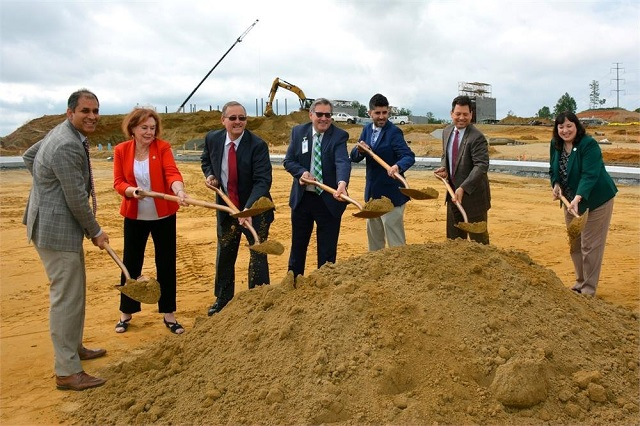 """DUMFRIES —The groundbreaking ceremony for """"Potomac Shores"""" Middle School took place today. Local elected officials joined School Board members and Superintendent Dr. Steve Walts for the ceremony."""